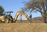 monitoring backhoe excavations